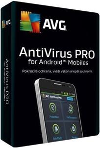 Obrázek AVG Antivirus PRO pro mobily, licence pro nového uživatele, počet licencí 3, platnost 2 roky