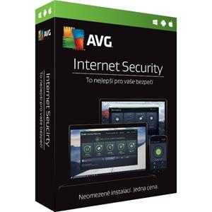 Obrázek AVG Internet Security 2018, obnovení licence, počet licencí 1, platnost 1 rok